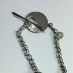CA0035 - Silver handmade pendant chased hammered Kathleen Barris Jewelry