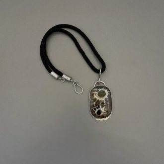 1224_IMG_0319_sterling_silver_pendant_necklace_septarian_nodule_mud_bubble_kathleen_barris_jewelry